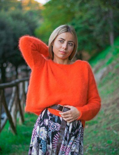 Phisique du Role Maglia Basica Angora Arancione
