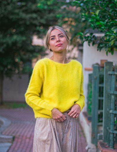 Phisique du Role Maglia Basica Angora Limone